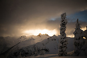 The iconic Mt Fee as the clouds break just in time for sunset