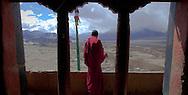 An ancient Tibetan monastery in Ladakh India.
