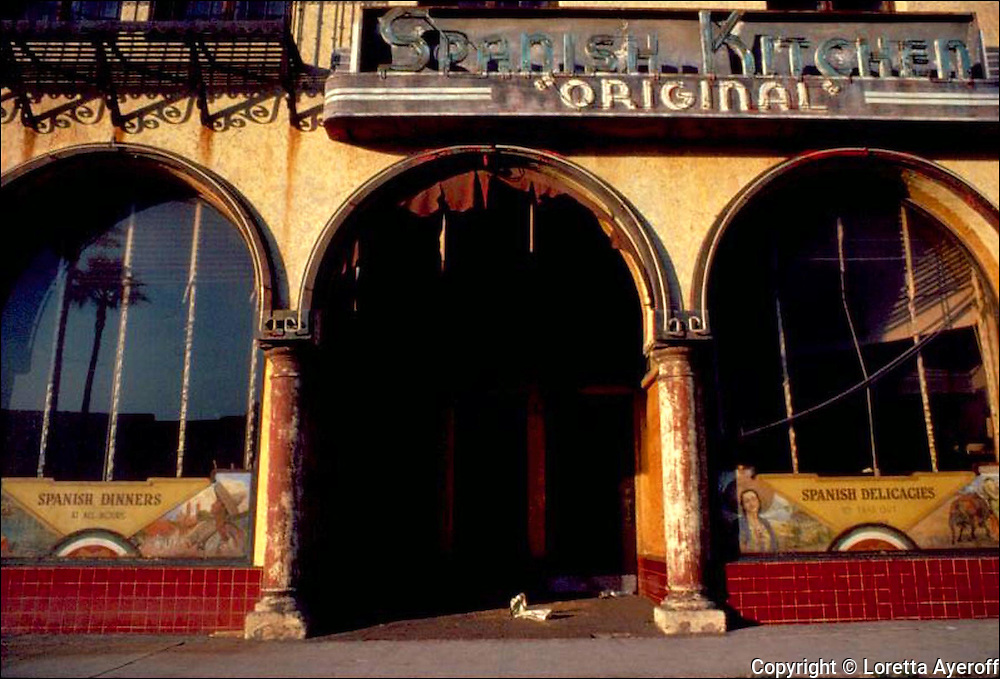 The Spanish Kitchen, Los Angeles, CA: A large portfolio of CA Ruins was published in California Magazine, 1982. This is the director's cut.