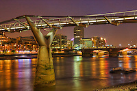 evening photographs of tower bridge and london bridge area in may 2008, england.