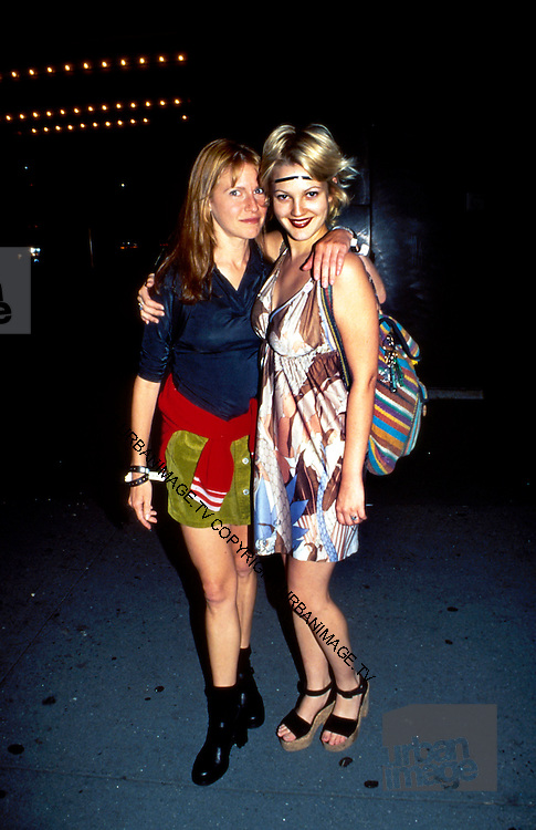 Actress Drew Barrymore and Jane Pratt photographed in November 1995.