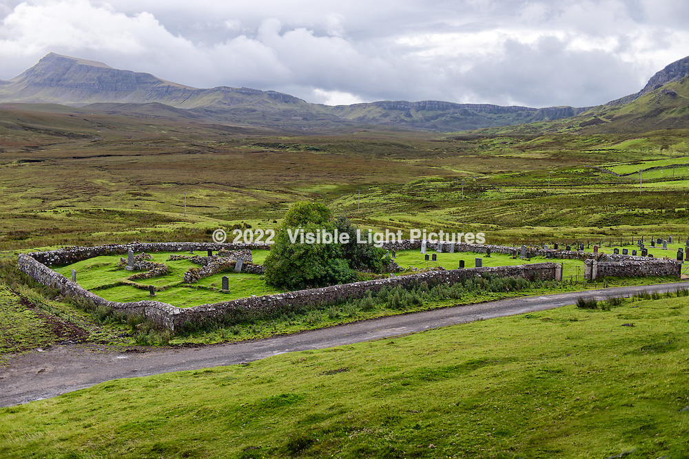 Quiraing Cemetery on The Isle of Sky, Scotland