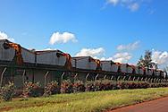 Tobacco drying sheds in Baragua, Ciego de Avila Province, Cuba.