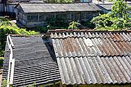 Corrugated roofs in Minas de Matahambre, Pinar del Rio, Cuba.