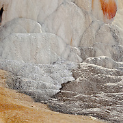 Orange Mound Spring in Yellowstone National Park