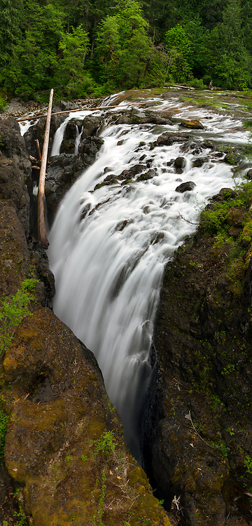 Englishman River Falls in Errington on Vancouver Island in British Columbia, Canada