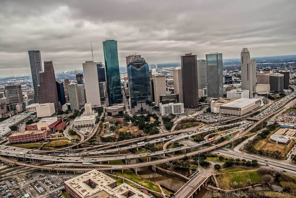 Downtown Houston & Gulf Freeway