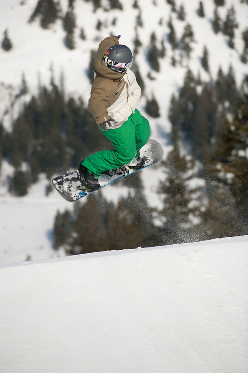 Slopestyle competition Sunday, 1/30/11, at Bogus Basin near Boise, Idaho.