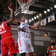 Philadelphia 76ers assignee, Center CHRISTIAN WOOD (33) dunks the ball as Maine Red Claws Forward OMARI JOHNSON (24) defends in the second half of a NBA D-league regular season basketball game between the Delaware 87ers and the Maine Red Claws  Friday, Feb. 05, 2016 at The Bob Carpenter Sports Convocation Center in Newark, DEL.