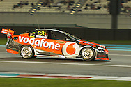 jamie whincup (team vodaphone) during YAS V8 400  in yas marina circuit, abu dhabi UAE..winners Jamie Whincup - team vodaphone (1), Alex davidson - irwin racing (2), makr winterbottom - orrcon steel fpr falcon (3)...real action heroes event..Providing the action for the main event are the Australian V8 Supercars, a two-car series of makers Holden and Ford - a close rivalry that runs deep in Australian culture. This season, that rivalry is heightened by the switch of 2010 series Champion James Courtney, who drives with the coveted No.1 plate, from his winning 2010 Ford Falcon to the Holden Commodore for 2011.