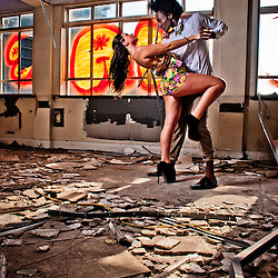 Urban Fashion Shoot in a Derelict Building in Bromley on Bow, East London, United Kingdom by SHOTbyFEMO Photography. <br /> <br /> Featuring 9 models and an abandoned building