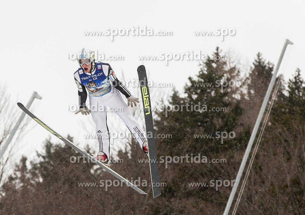Rozle Zagar of Slovenia soaring through the air during testing jumps at Ski jumping Flying Hill One day before FIS World Cup Ski Jumping Final, on March 16, 2016 in Planica, Slovenia. Photo by Vid Ponikvar / Sportida