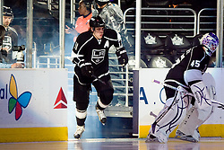 Anze Kopitar (Los Angeles Kings, #11) before ice-hockey match between Los Angeles Kings and Phoenix Coyotes in NHL league, March 3, 2011 at Staples Center, Los Angeles, USA. (Photo By Matic Klansek Velej / Sportida.com)