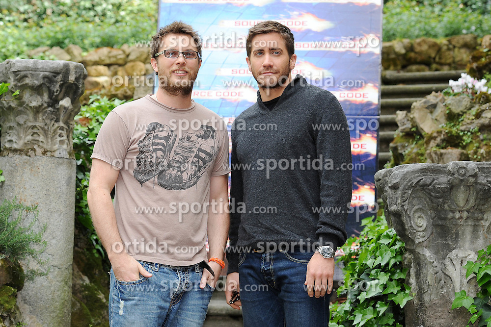 "06.04.2011, Rom, ITA, Photocall of the Source Code, im Bild the actor Jake Gyllenhaal and the director Duncan Jones..Photocall of ""Source Code"".Roma, 06/04/2011., EXPA Pictures © 2010, PhotoCredit: EXPA/ InsideFoto/ Antonietta Baldassarre *** ATTENTION *** FOR AUSTRIA AND SLOVENIA USE ONLY!"