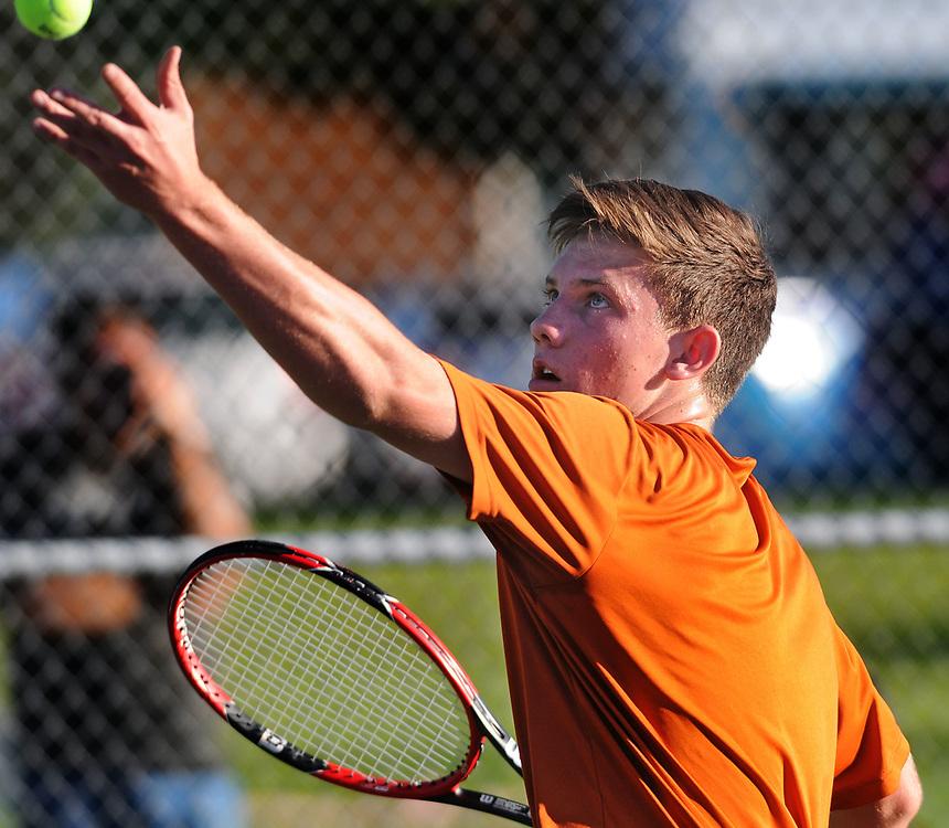 boys state tennis1/sports/jim thompson/ Boys 6A State Tennis championships.  Thursday May. 04, 2017. (Jim Thompson/Albuquerque Journal)