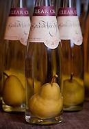 Pear in the bottle eaux-de-vie, Clear Creek Distillery, Portland, Oregon