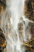 Detail of Bridalveil Fall, Yosemite Valley, Yosemite National Park, California