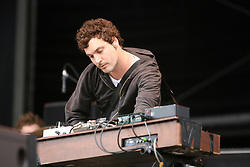 Chris Ross of Wolfmother on the NME stage..T in the Park, Sunday 2006..©Michael Schofield..