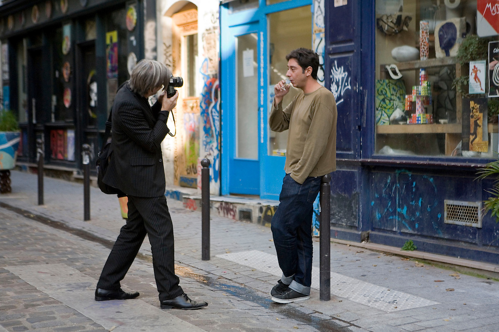 Une journée avec Miguel Gomes, réalisateur portugais, de passage à Paris pour la promotion de son film Tabou. Paris 2013.