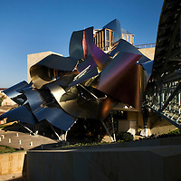 The Hotel Marques de Riscal, designed by architect Frank Gehry, part of Starwood's Luxury Collection, in Elciego,   Spain, Oct. 10, 2008. Photographer: Markel Rendondo/Fedephoto.