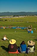 Eventing (equestrian triathlon), Cross Country event, The Event at Rebecca Farms, Kalispell, Montana, spectators