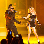 """COLUMBIA, MD - June 9th, 2011: apl.de.ap and Fegie of the Grammy Award-wining hip-hop group The Black Eyed Peas perform at Merriweather Post Pavilion in Columbia, MD. The group recently released the single """"Don't Stop The Party"""" from their sixth studio album, The Beginning. (Photo by Kyle Gustafson/For The Washington Post)"""