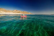 Kayaking, Ventana Bay, near El Sargento, Sea of Cortez, Baja California Sur, Mexico