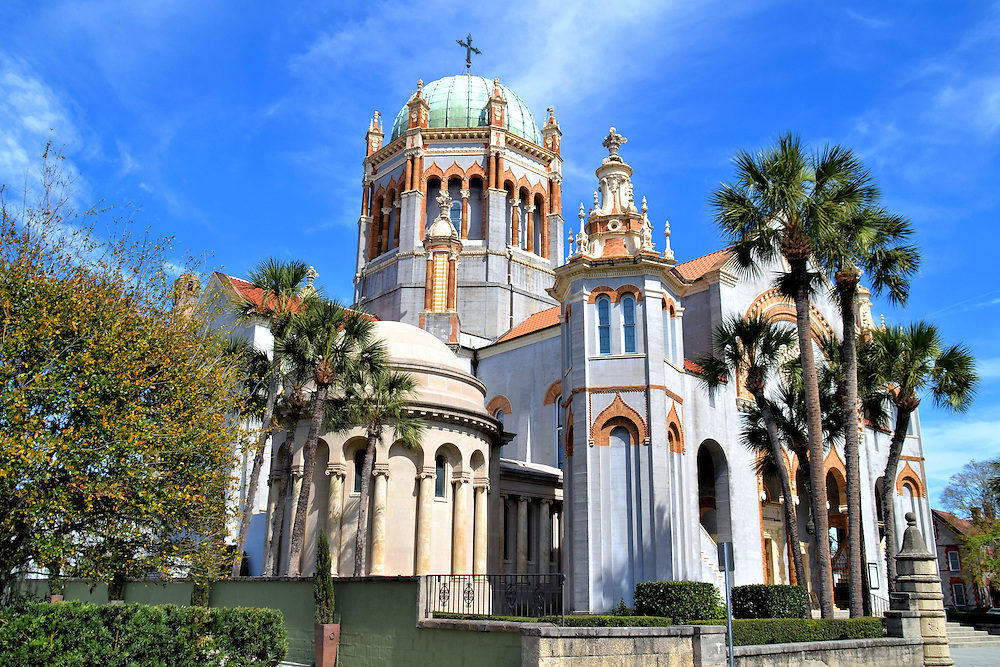 Memorial Presbyterian Church in St. Augustine, Florida<br /> Henry Flager was a co-founder of Standard Oil, the &ldquo;father&rdquo; of Miami and Palm Beach, Florida, and a major benefactor of St. Augustine.  He was building the Ponce de Le&oacute;n Hotel, which is now Flagler College, when his daughter died in 1889.  It became the impetuous for creating the Memorial Presbyterian Church that&rsquo;s modeled after St. Mark&rsquo;s Basilica in Venice.  In 1913, he was buried in a mausoleum beside his daughter.