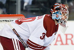 Ilya Bryzgalov (Phoenix Coyotes, #30) during ice-hockey match between Los Angeles Kings and Phoenix Coyotes in NHL league, March 3, 2011 at Staples Center, Los Angeles, USA. (Photo By Matic Klansek Velej / Sportida.com)