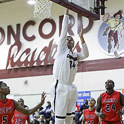 Concord Raiders Forward Noah Rivera (34) drives to the basket for the easy layup in the first half of a regular season non-conference high school basketball game between the Plymouth Whitemarsh Colonials and Concord High Raiders Monday, Jan. 19, 2015 at Concord High School in Wilmington, DEL