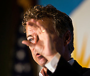 Republican Presidential candidate Rand Paul makes a point to a small, full room of supporters within the Meachum Student Services Building on Thursday, September 17, 2015.
