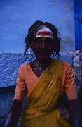 Woman at Madurai Hindu Temple in South India.