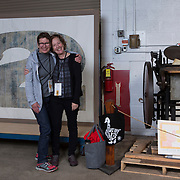 Participants at the 2015 Wayzgoose at the Hamilton Wood Type & Printing Museum in Two Rivers, Wisconsin.