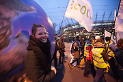 march for Climate and Social Justice at COP19, UN climate change conference in Warsaw, Poland