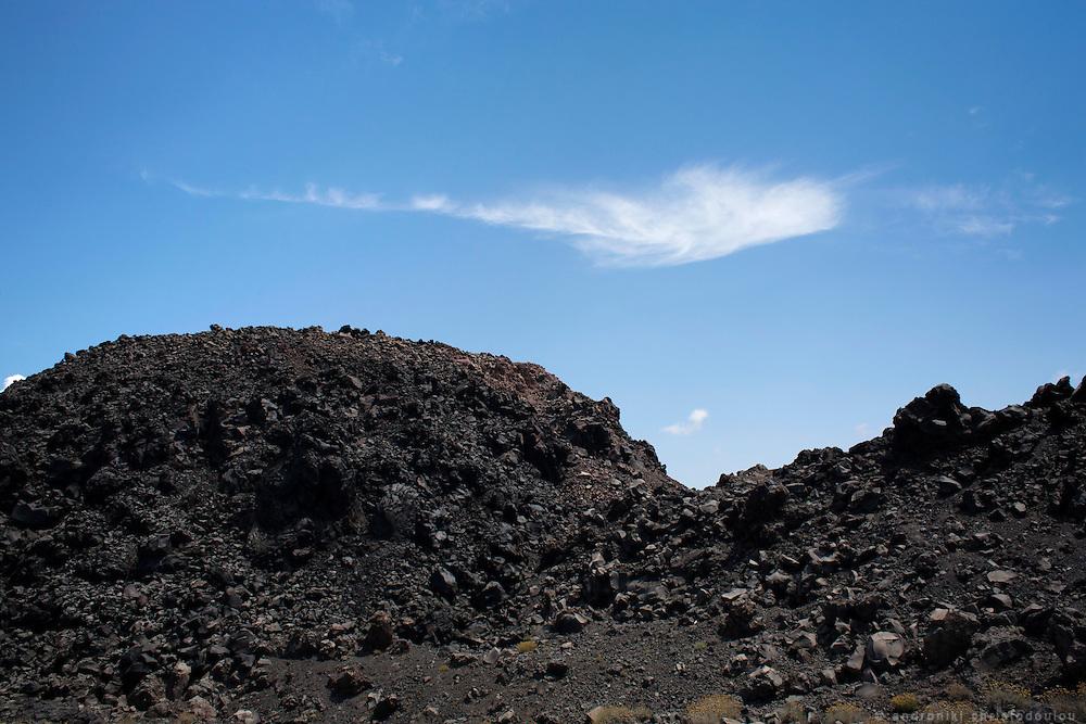 Volcano in Santorini, Greeece