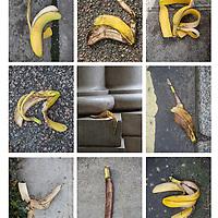 Bananas litter.