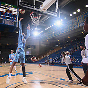Chicago Sky Center IMANI BOYETTE (34) take a high percentage shot prior during warm ups prior to a WNBA preseason basketball game between the Chicago Sky and the New York Liberty Sunday, May. 01, 2016 at The Bob Carpenter Sports Convocation Center in Newark, DEL