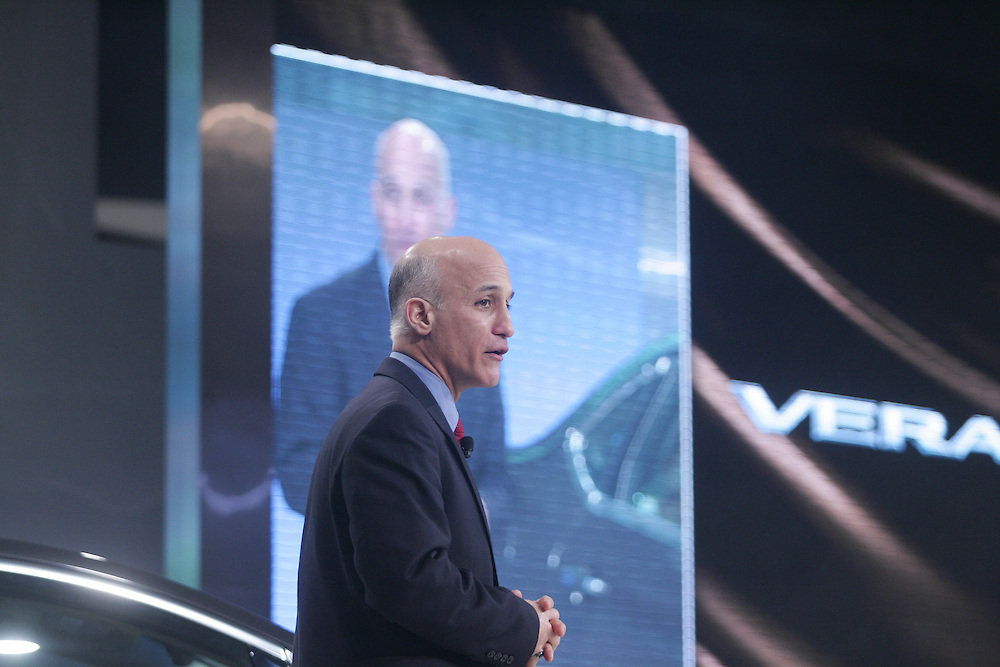 GR --- Detroit, Michigan ---11-01-10--- Carlos Tavares, Executive Vice President for Nissan speaks at the Automotive Outlook Conference January 9, 2011 which is part of the North American International Auto Show in Detroit, Michigan.<br /> Geoff Robins AFP