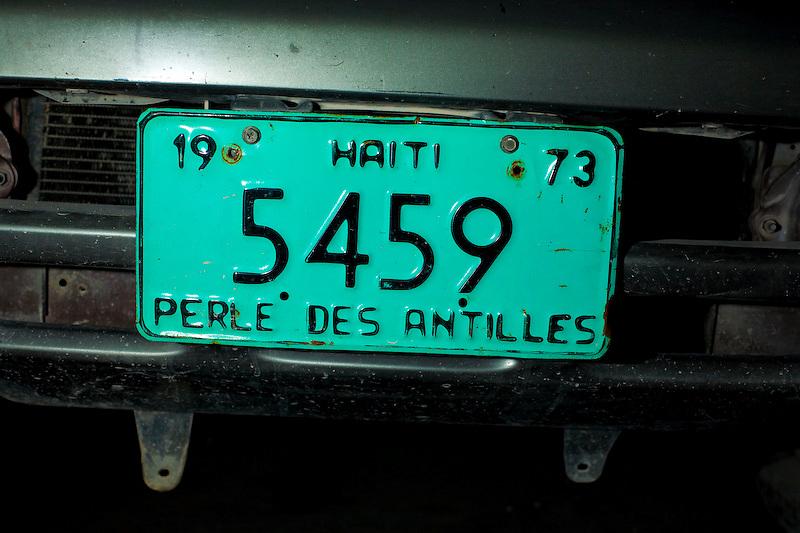 License plate, Port Au Prince Haiti. 3/29/2010 Photo by Ben Depp