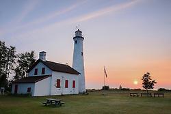 A colorful Lake Huron sunrise near Harrisville, Michigan