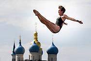 HUBER Ginger USA<br /> Women Competition <br /> FINA High Diving World Cup 2014<br /> Kazan Tatartsan Russsia RUS Aug. 8 to 10 2014<br /> Kazanka River  Day02 - Aug.9 <br /> Photo G. Scala/Deepbluemedia