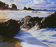 6212-1007CR ~ Copyright: George H. H. Huey ~ The beach at Back Bay, an isolated beach on the Caribbean coast of the island of Tobago. Trinidad and Tobago.