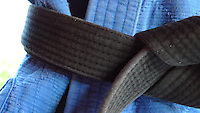 Judogi and black belt