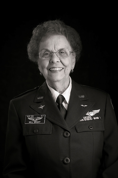 Nell Bright, WWII WASP.  Photographed during the 2013 Women in Aviation International conference in Nashville, Tn.