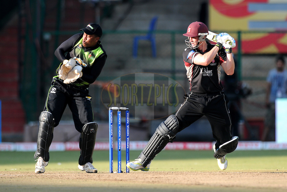 Jos Butller of Somerset bats during match 19 of the NOKIA Champions League T20 ( CLT20 ) between the Warriors and Somerset held at the  M.Chinnaswamy Stadium in Bangalore , Karnataka, India on the 5th October 2011..Photo by Pal Pillai/BCCI/SPORTZPICS.