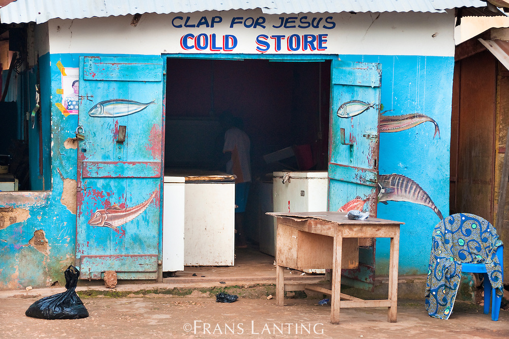 Shop front sign for cold storage , Atobiase, Ghana