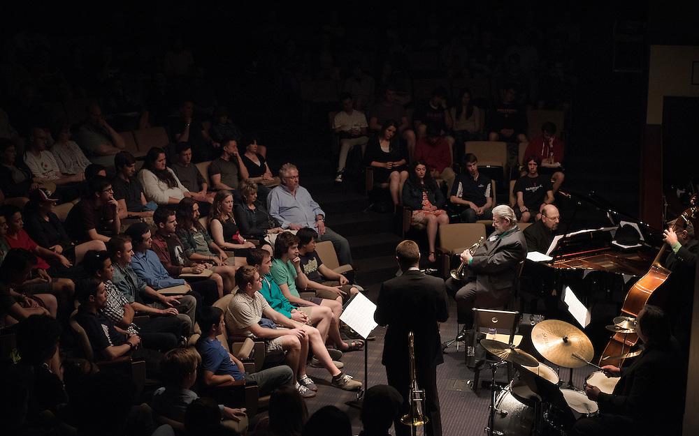 Jazz concert at Wolff Auditorium (Photo by Rajah Bose