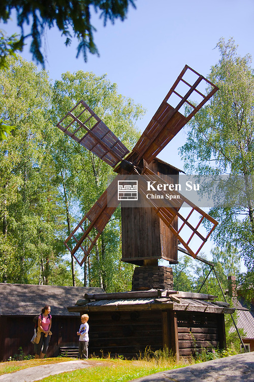 Historical windmill, Seurasaari Open Air Museum, Helsinki, Finland