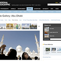 USE ARROWS &larr; &rarr; on your keyboard to navigate this slide-show<br /> <br /> National Geographic - On line edition<br /> Pictures of Abu Dhabi, published in September 2010<br /> Photo: Ezequiel Scagnetti