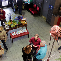 Festival-goers gather before a film screening during the final day of the Cucalorus Film Festival Sunday November 16, 2014 at Thalian Hall in Wilmington, N.C. (Jason A. Frizzelle)